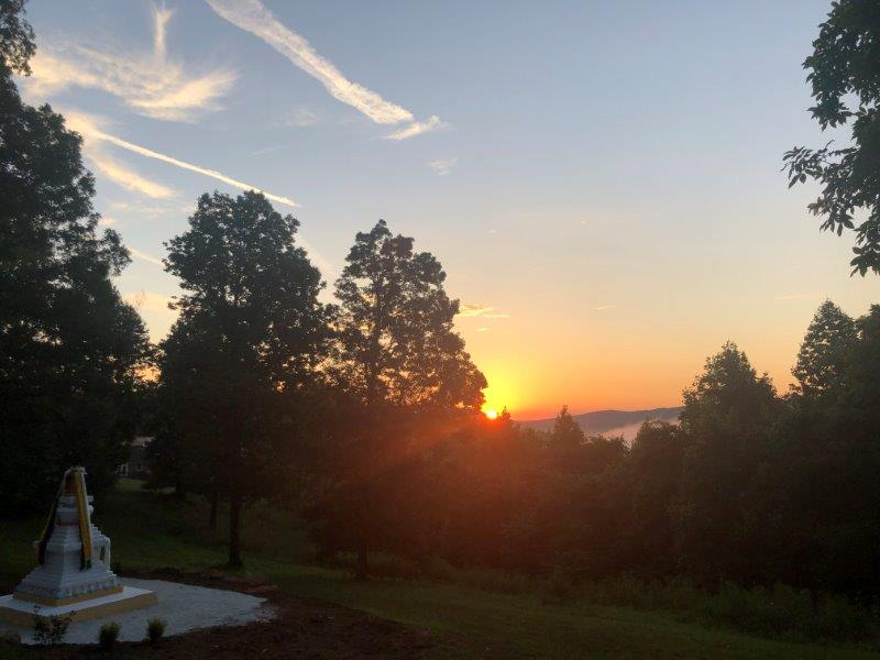 Sunrise at Stupa SR