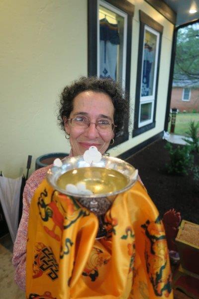 Pat Leavitt with offering