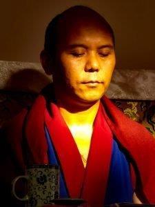Geshe Yungdrung Gyatso meditating 225x300